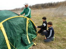 ставим палатки в походе